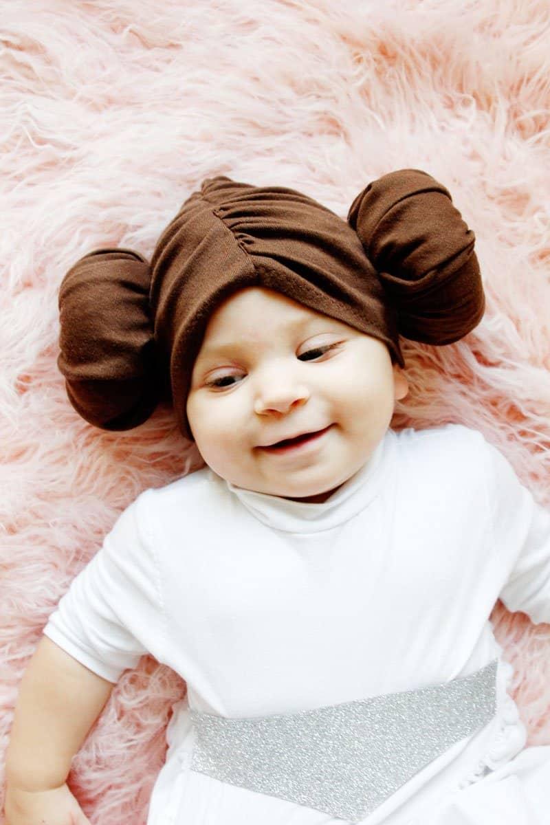 DIY princess leia baby costume