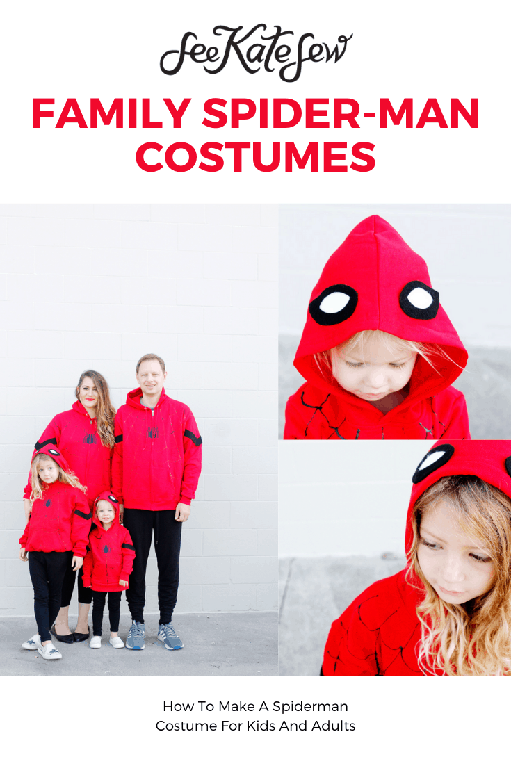 Make Family Spider-Man Costumes with a Hoodie