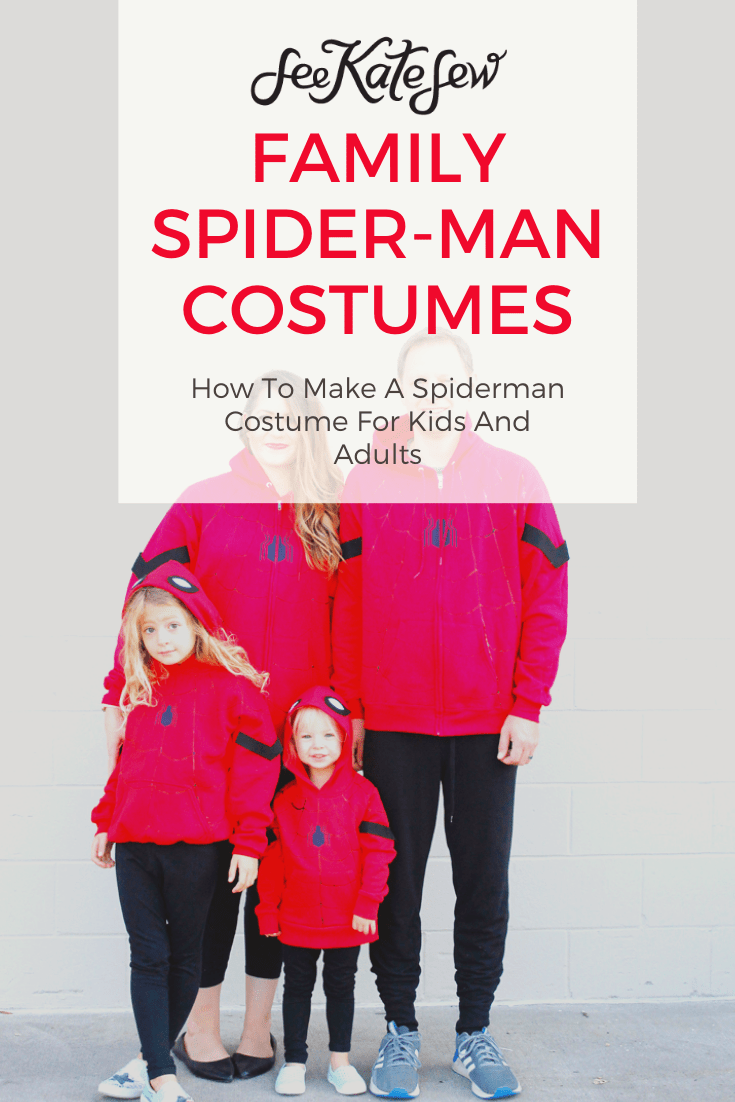 DIY Family Spider-man Costumes