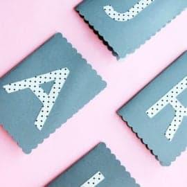DIY Monogram Journals