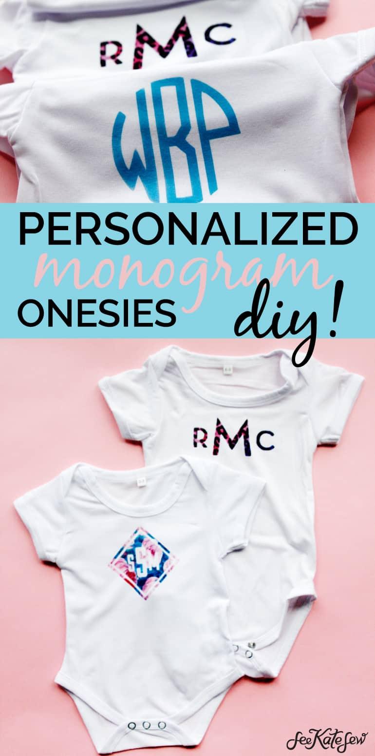 DIY Cricut Monogram Baby Onesie Tutorial