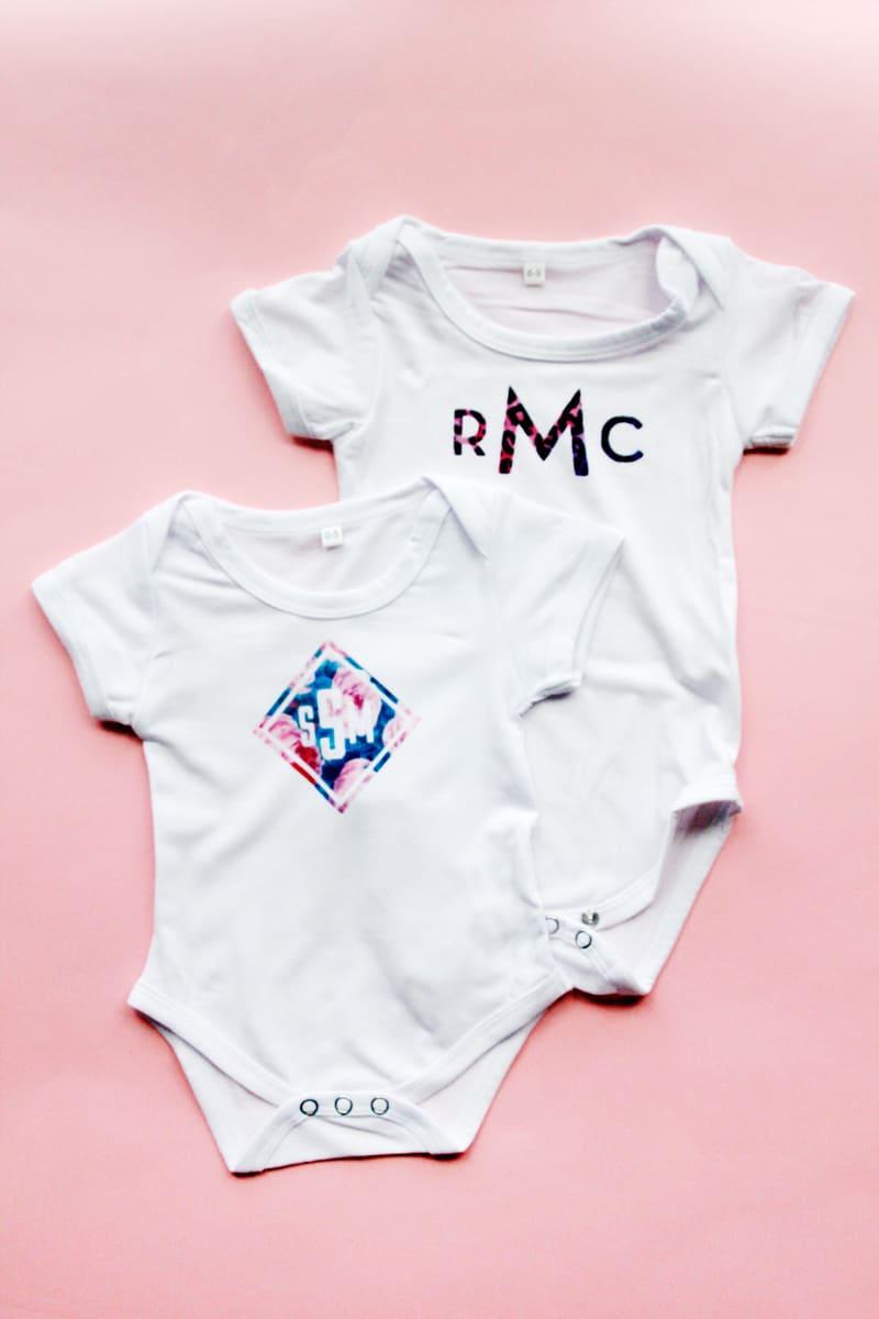 Monogram Baby Onesie DIY