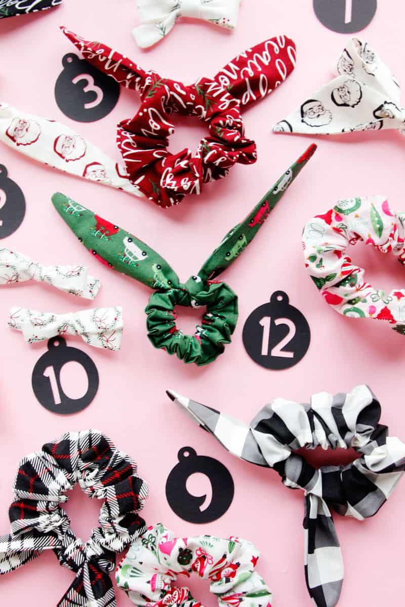 Scrunchie Advent Calendar DIY