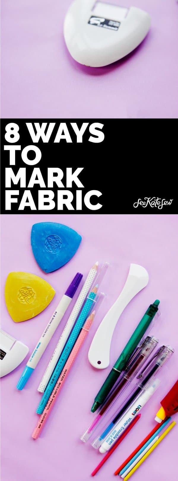 8 ways to mark fabric