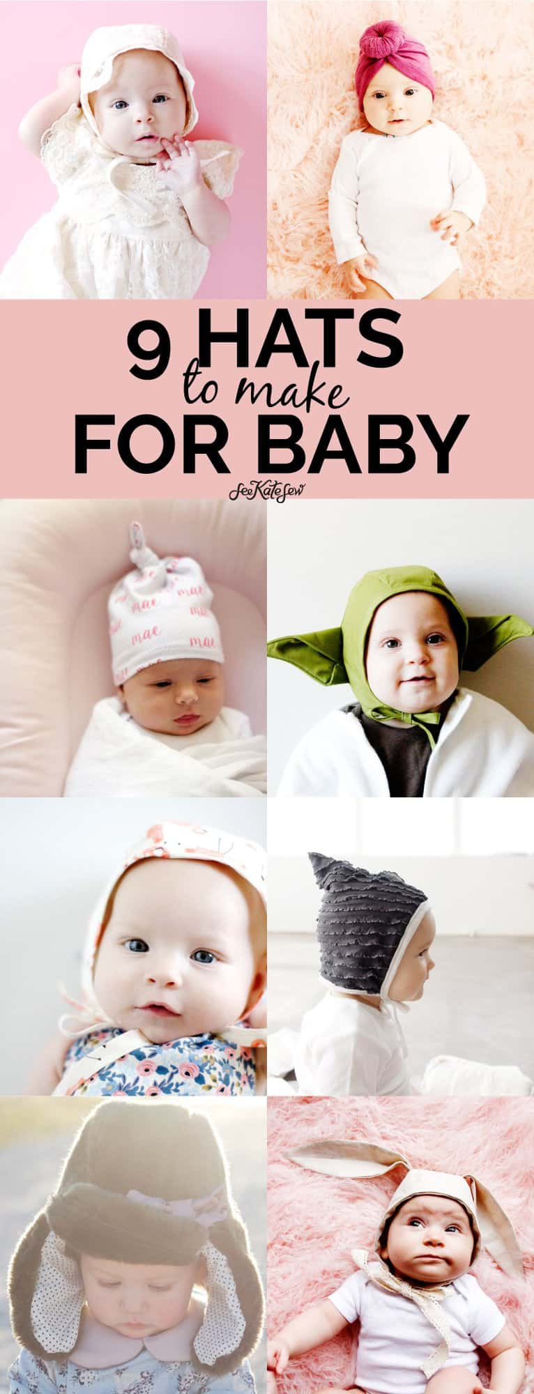 9 baby hats to make