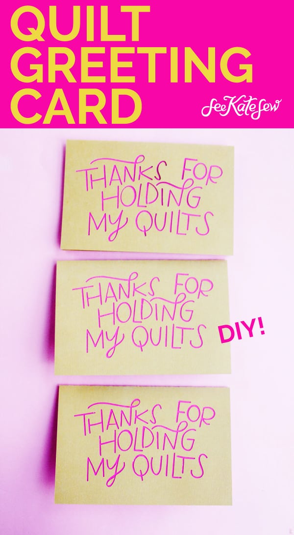 Quilt Greeting Card | Quilt Husband Card | Valentine for Craft Supporter
