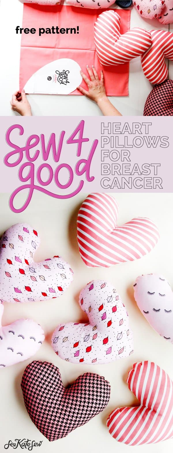 Heart Pillows for Breast Cancer FREE PATTERN