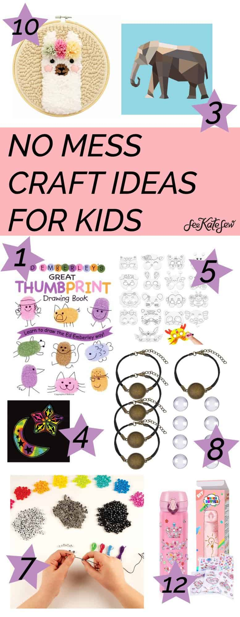 NO MESS Crafts - 13 Easy Crafts for Kids