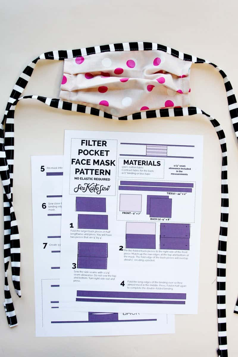 Printable Face Mask Instructions