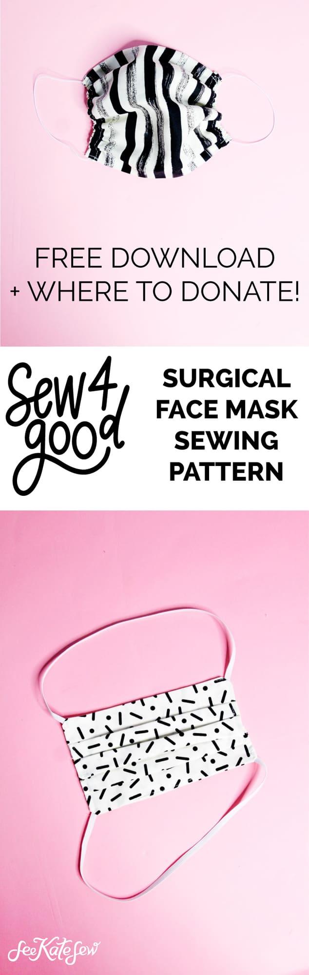 DIY Medical Mask Sewing Pattern FREE