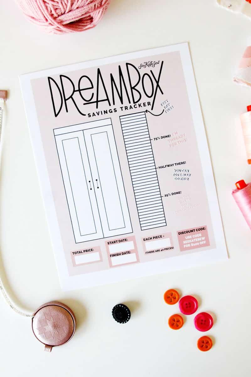 DreamBox Savings Tracker + 10 Reasons I love my dream box craft cabinet