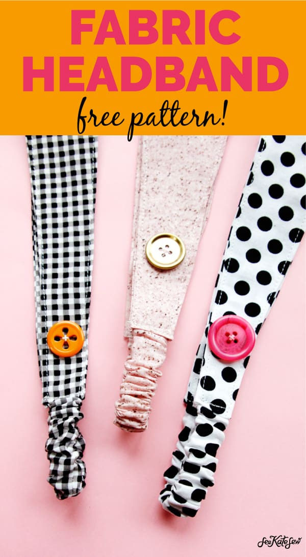 Headband with Fabric Scraps | Headband with Buttons | Cute Headbands for Nurses