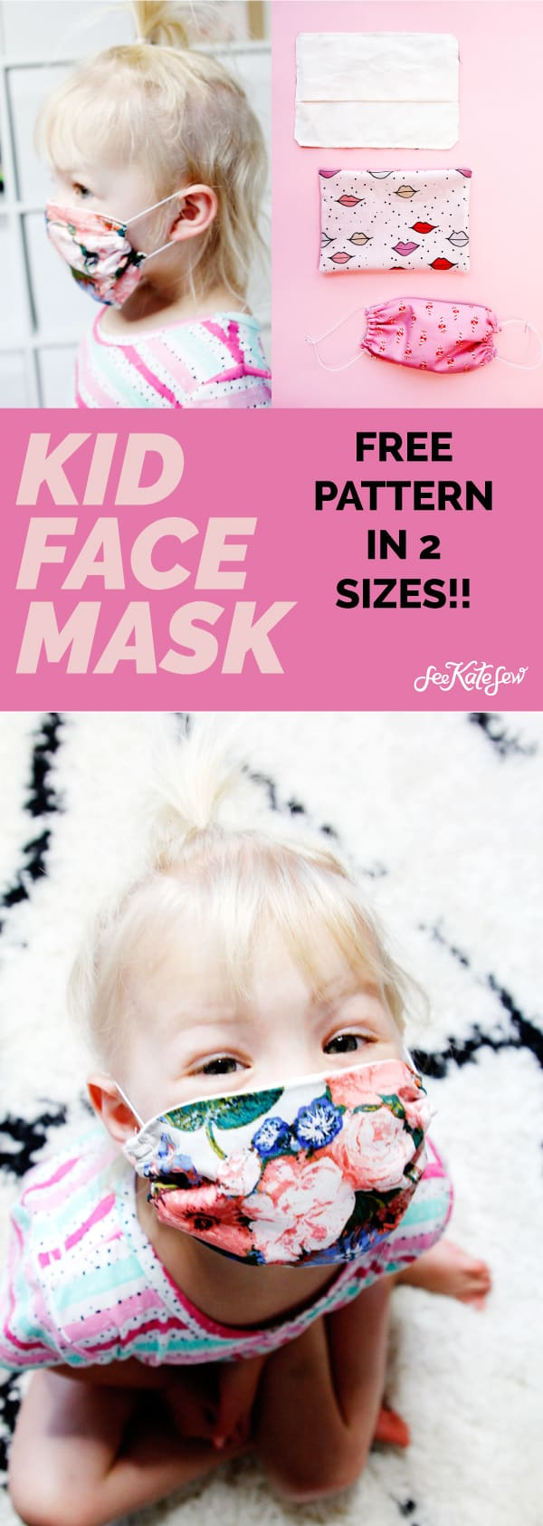 How to make a face mask for kids FREE PATTERN
