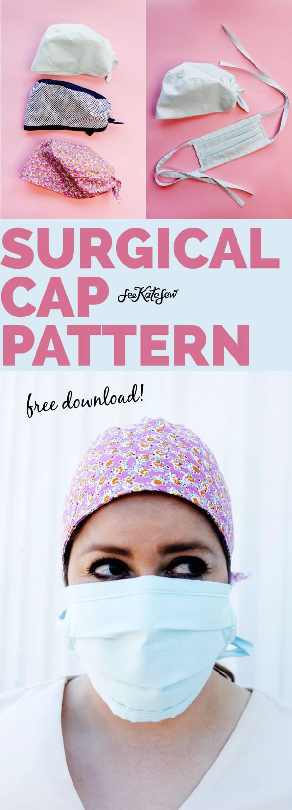 Surgical Cap Sewing Pattern FREE