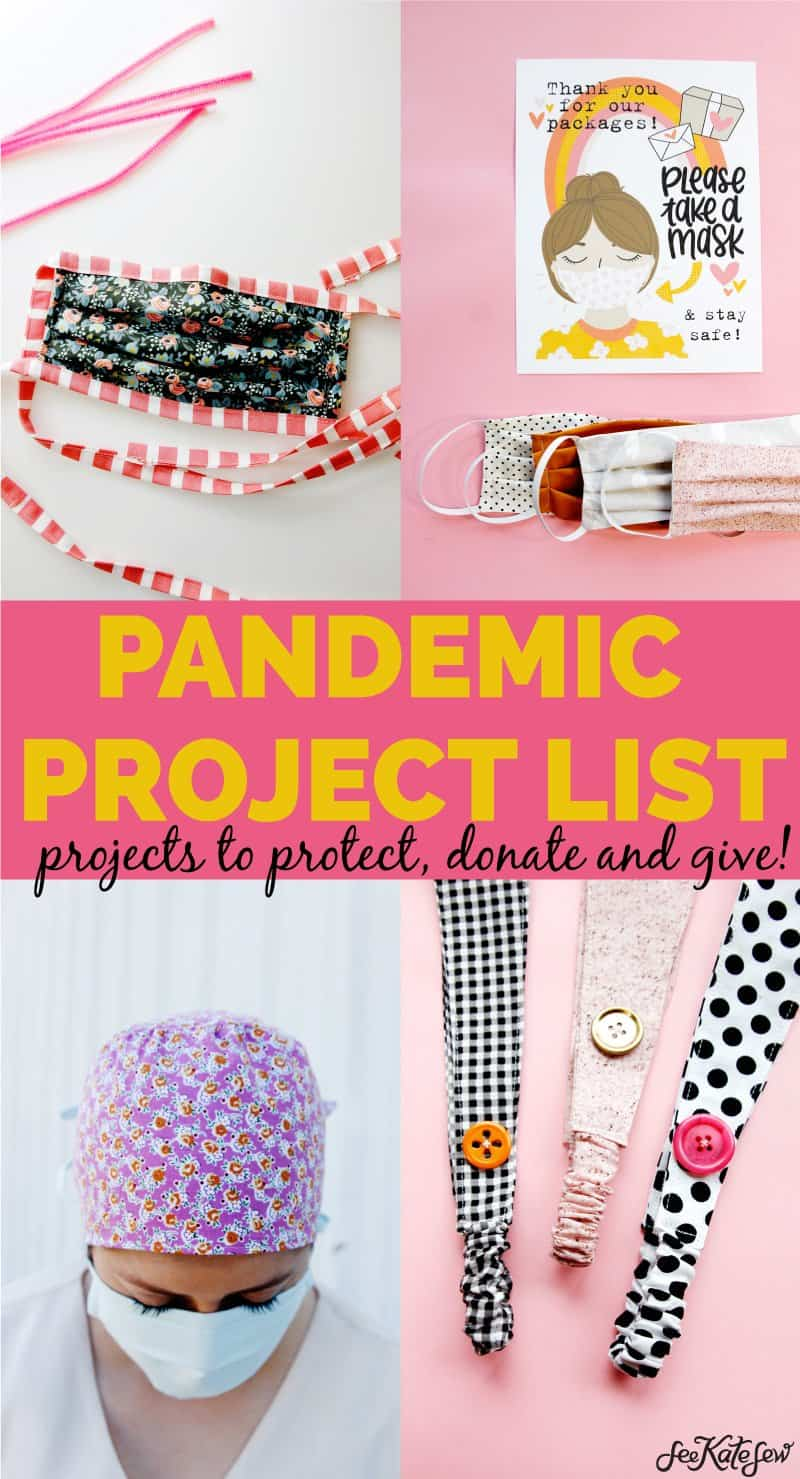 Pandemic Sewing Projects | Best Mask Tutorials | Nurse Gifts
