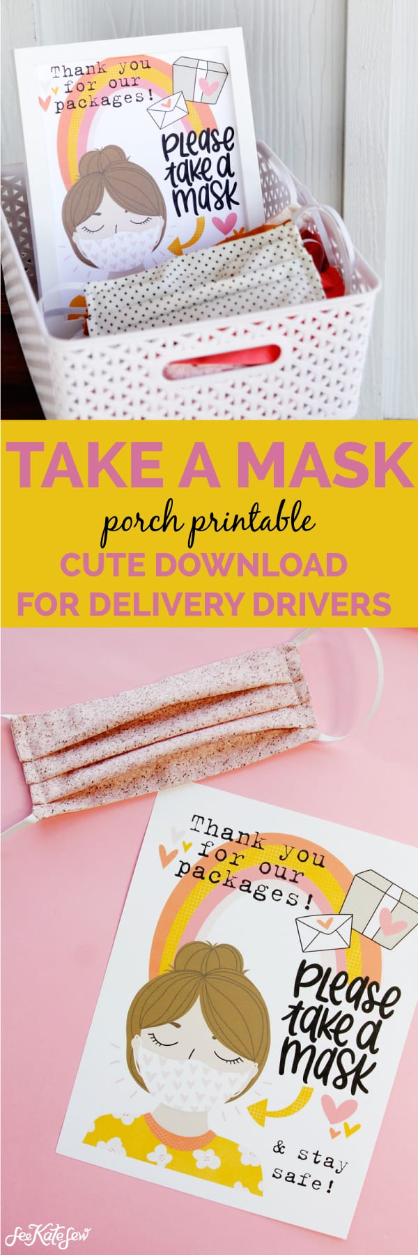 Take a Mask | Free Printable for Delivery Drivers