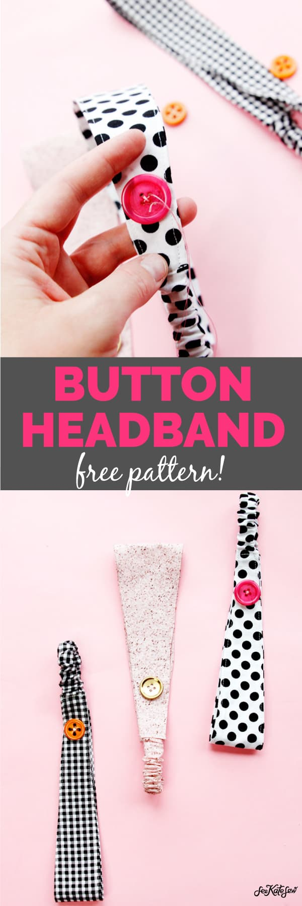 Nurse Headband with Button | Sewing Headband Pattern | Button Headband