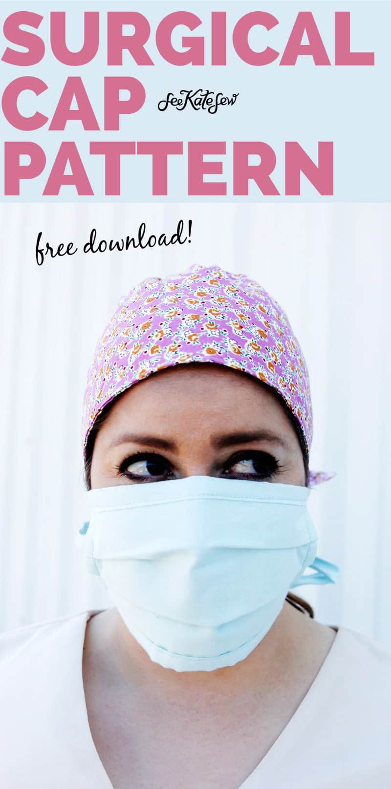 Scrub Hat Pattern Download | Make a hat for your healthcare friends!