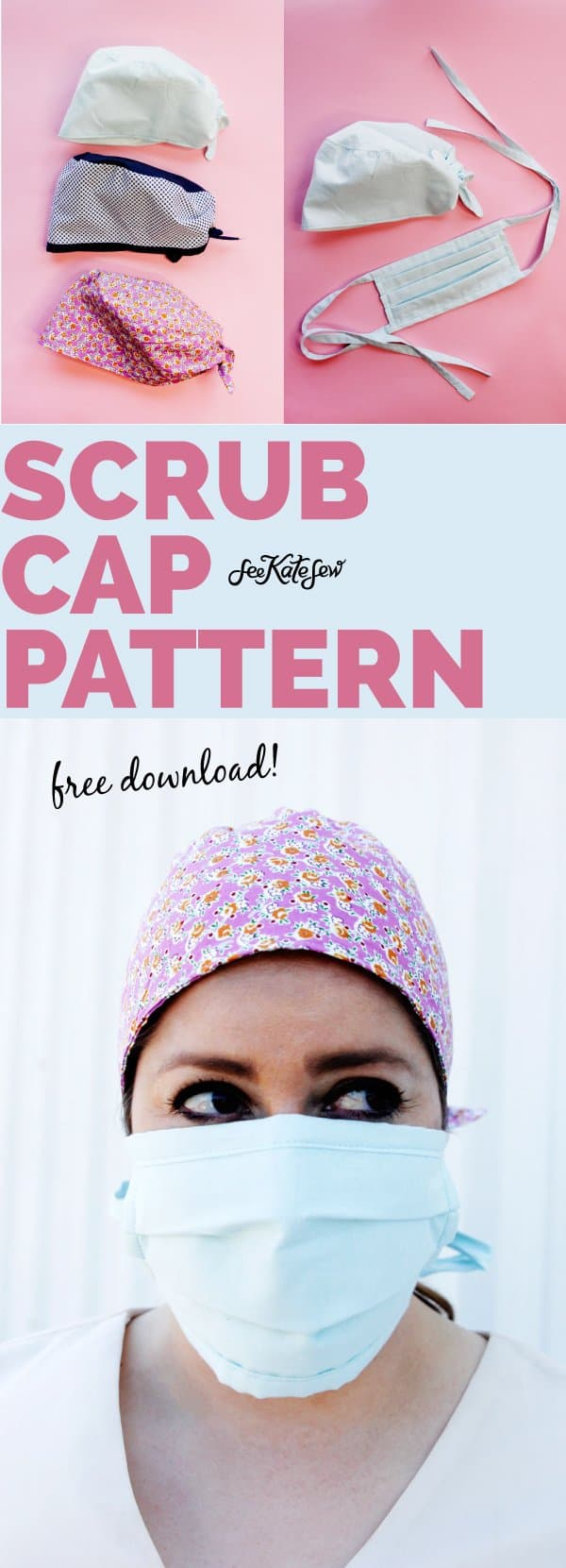 Surgical Cap Sewing Pattern FREE Download and Sew your Own Caps