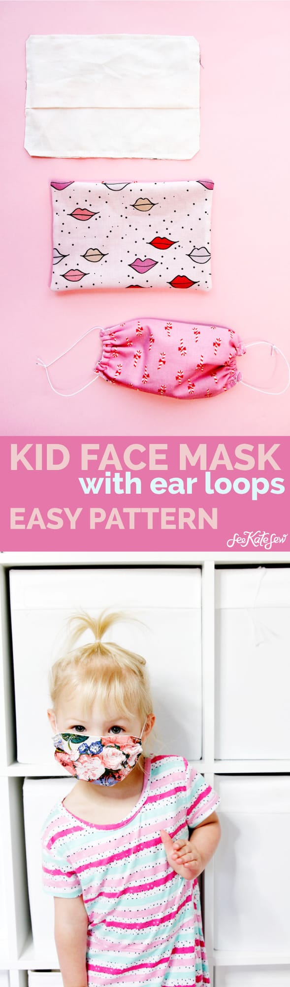 Kid size pattern for face mask