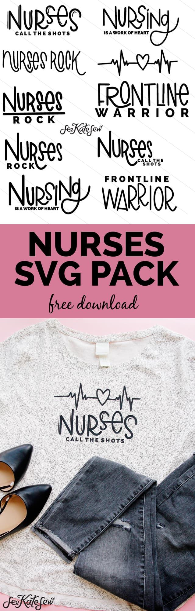 Nurses SVG Design Pack | National Nurses Week