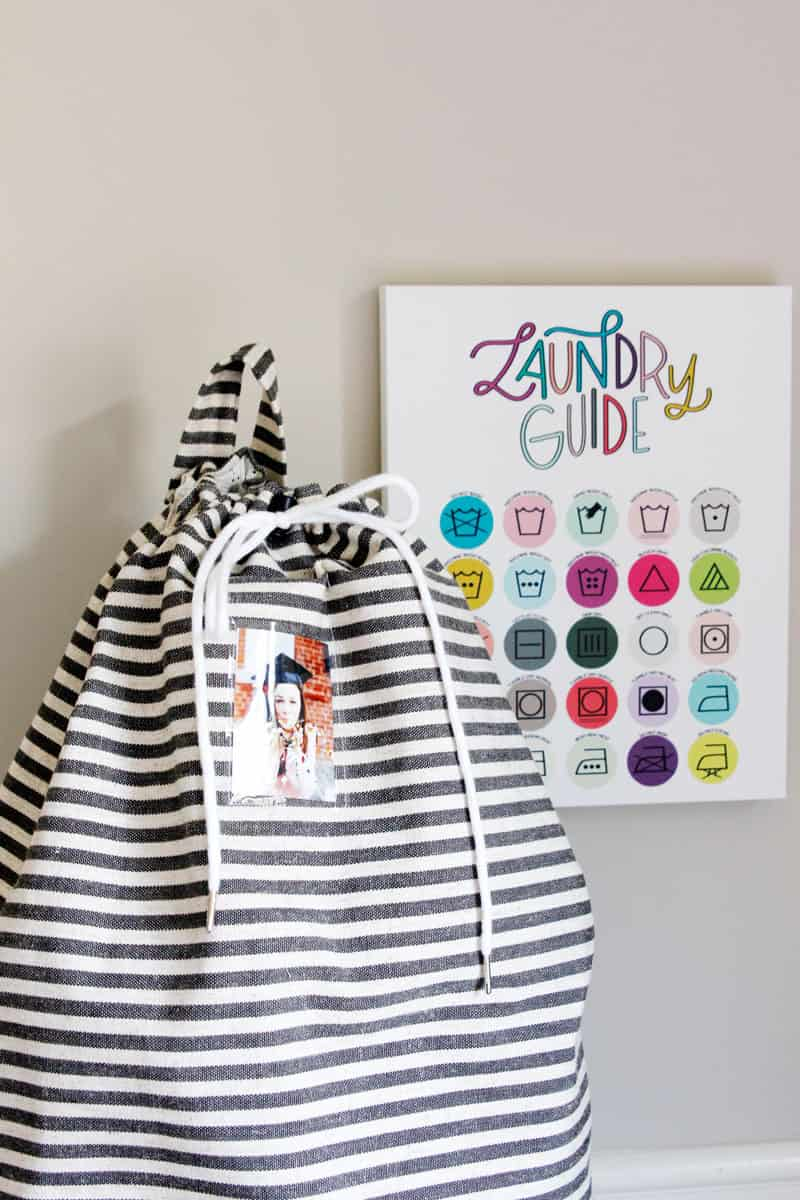 Laundry Bag and Laundry Guide - Free Sewing Pattern and printable download