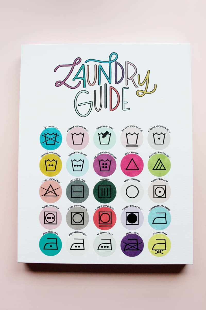 Laundry Care Guide Printable - Free Download