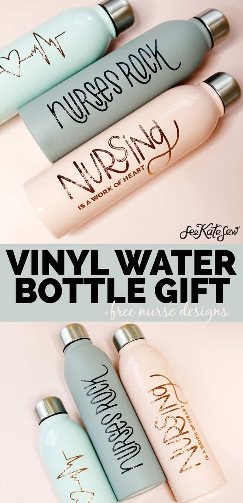 Vinyl Water Bottle Gifts for Friends and Coworkers