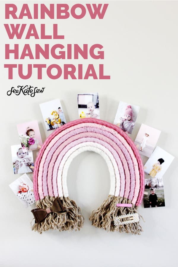 Rainbow Yarn Wall Hanging Tutorial | Make your own wall hanging!