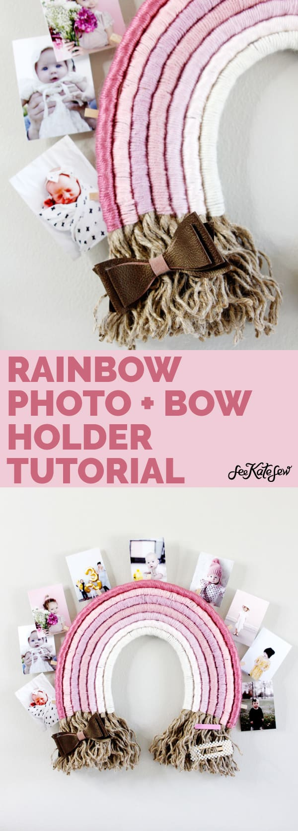 Photo and Bow Holder | Ombre Rainbow Project