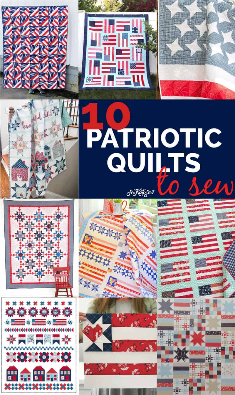 10 Patriotic Quilts to Sew for American Flag Themed Quilts | Quilts of Valor