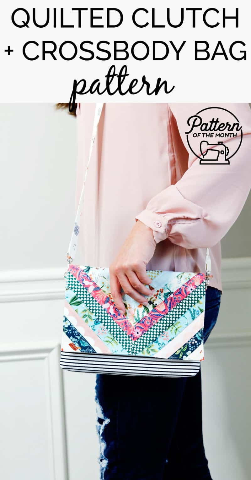 Quilted Flap Clutch | Pattern of the Month