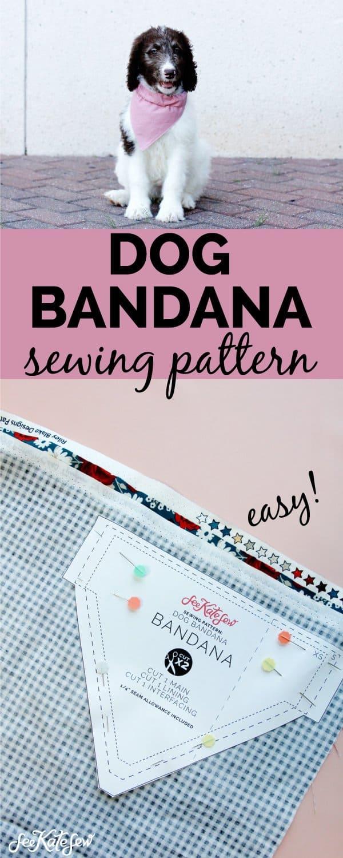 Sewing a Puppy Bandana