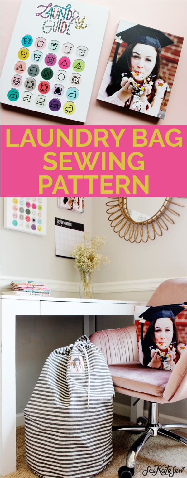 Laundry Bag Sewing Pattern and Laundry Guide Printable