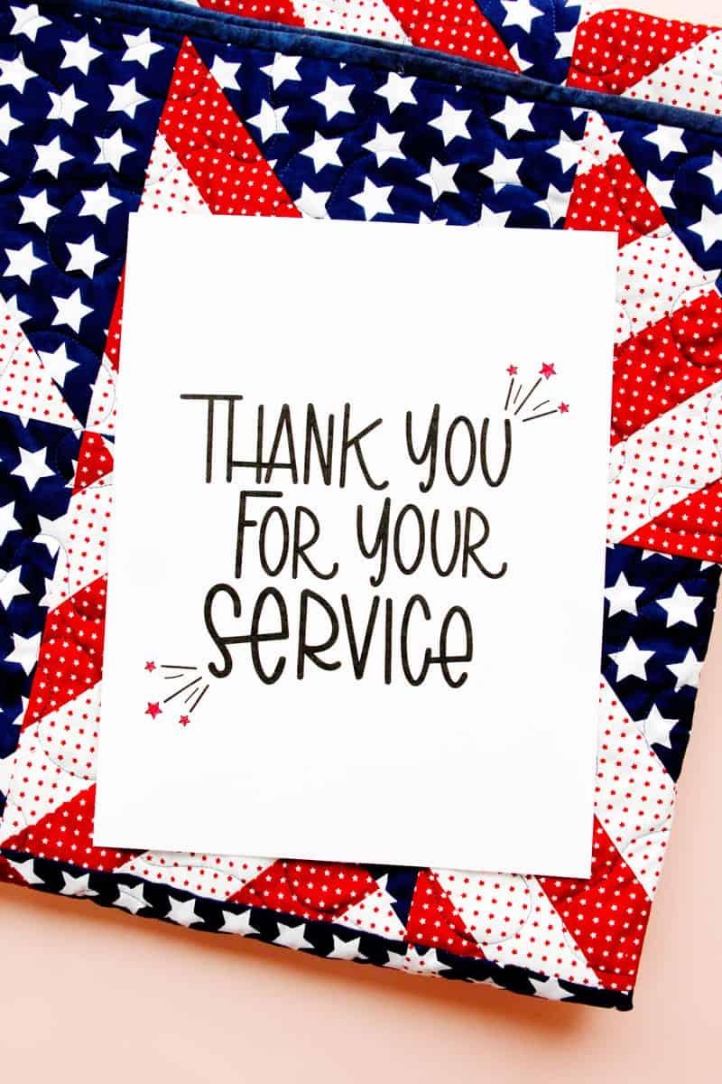 Military Appreciation Card