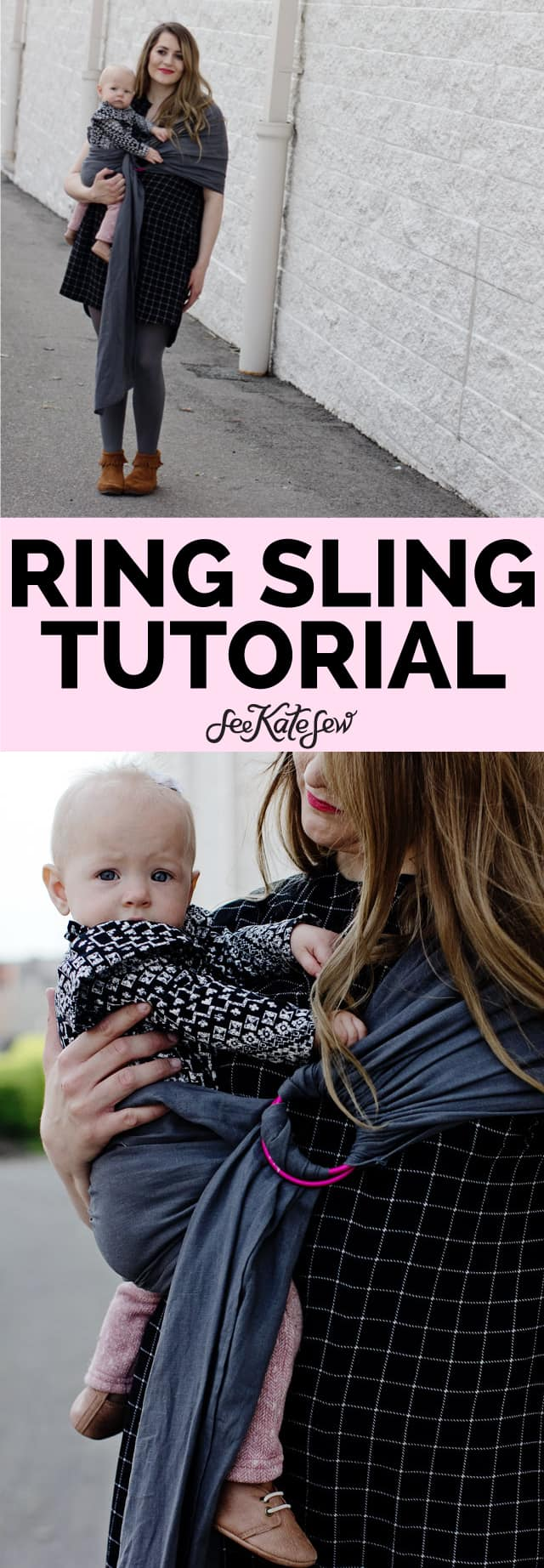 Make a baby wrap with rings
