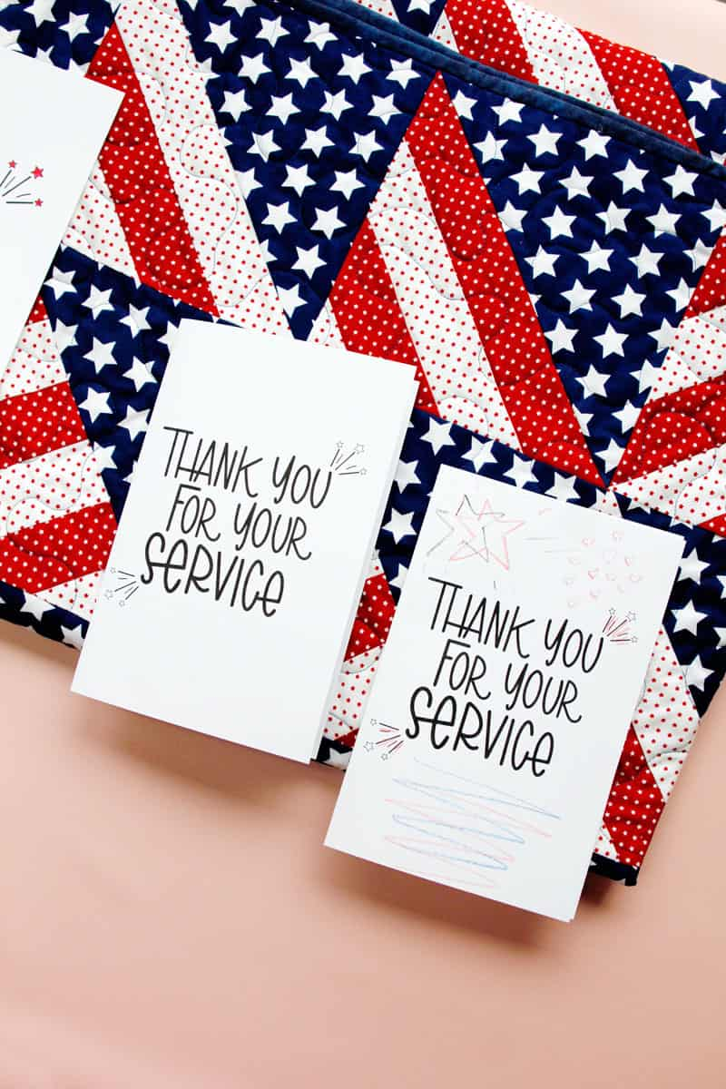 Free Veteran's Day Printable | Thank you for your service card