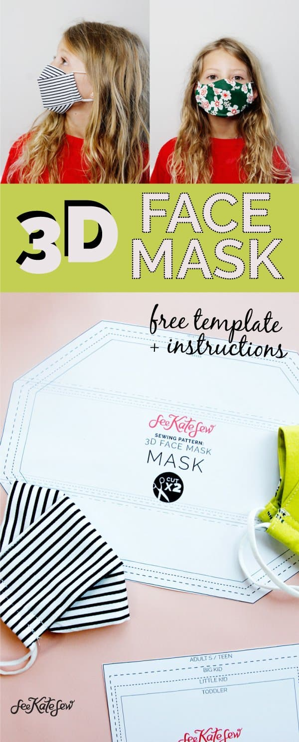 3D Mask Sewing Pattern