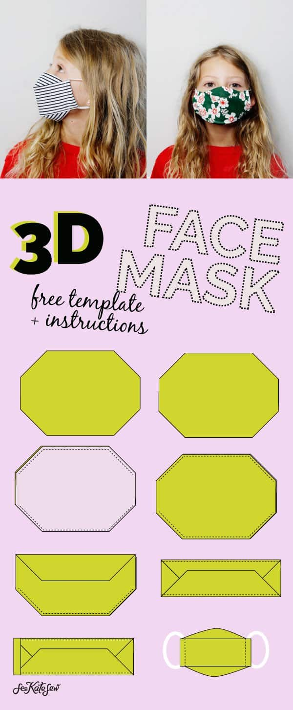 3D Face Mask Template and Instructions