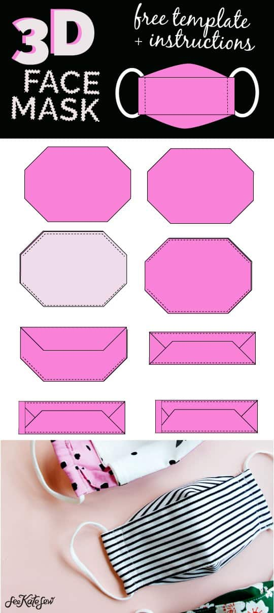 Sew a mask with free template