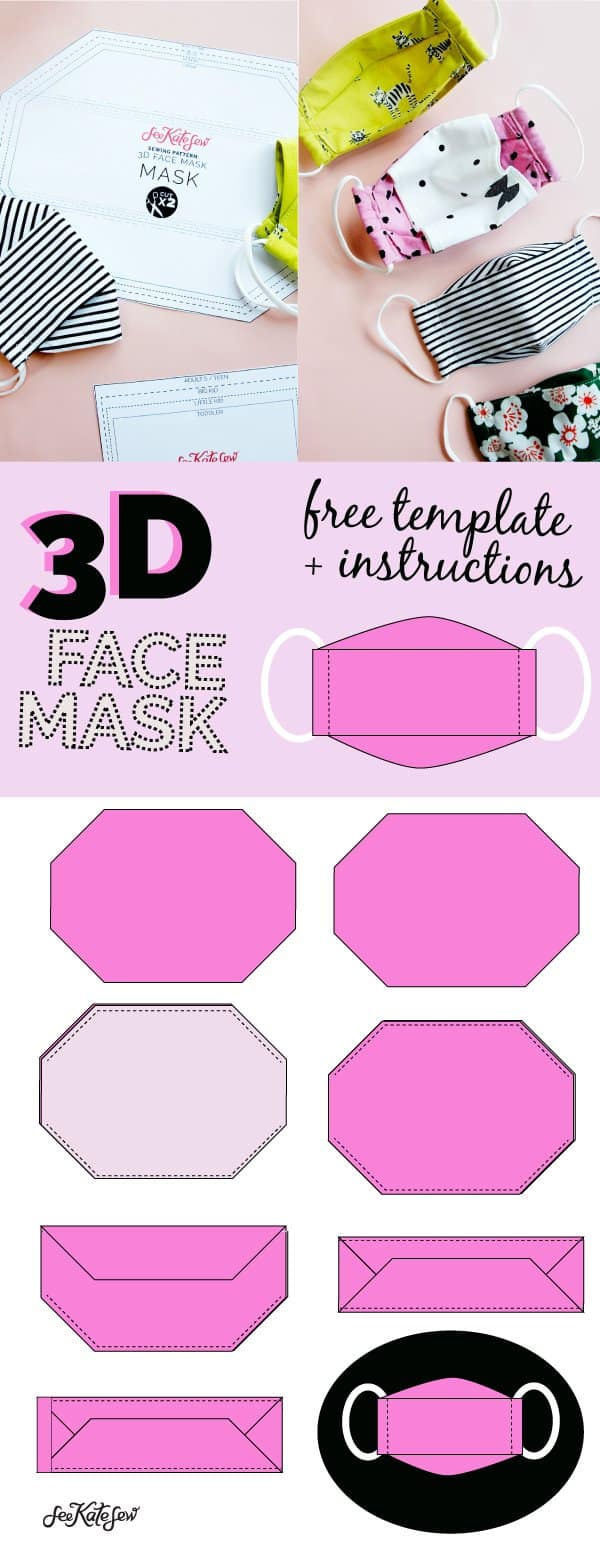 3d Mask Sewing Template