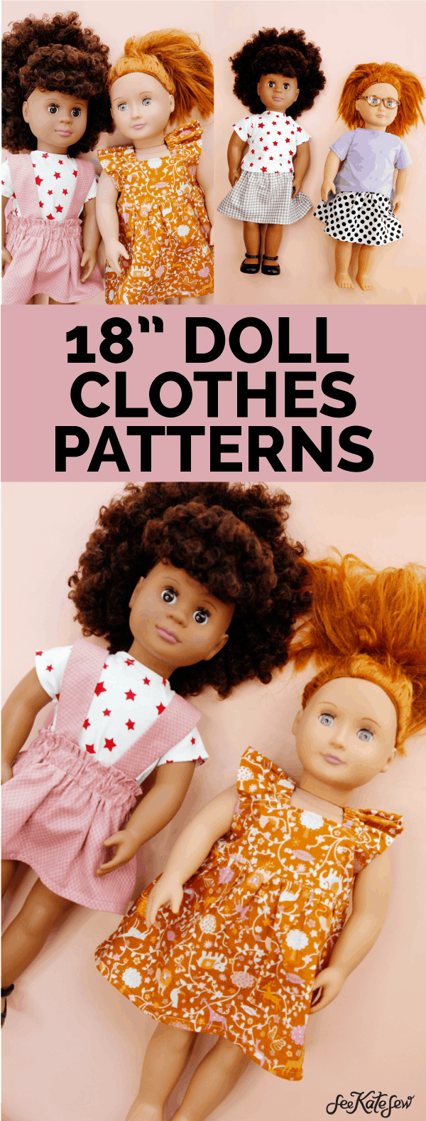 sew your own doll clothes for american girl sized dolls