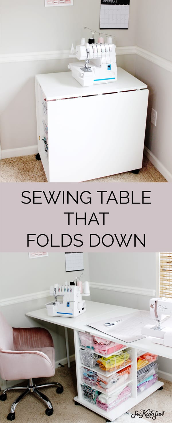 Sewing Table that folds down for shared rooms