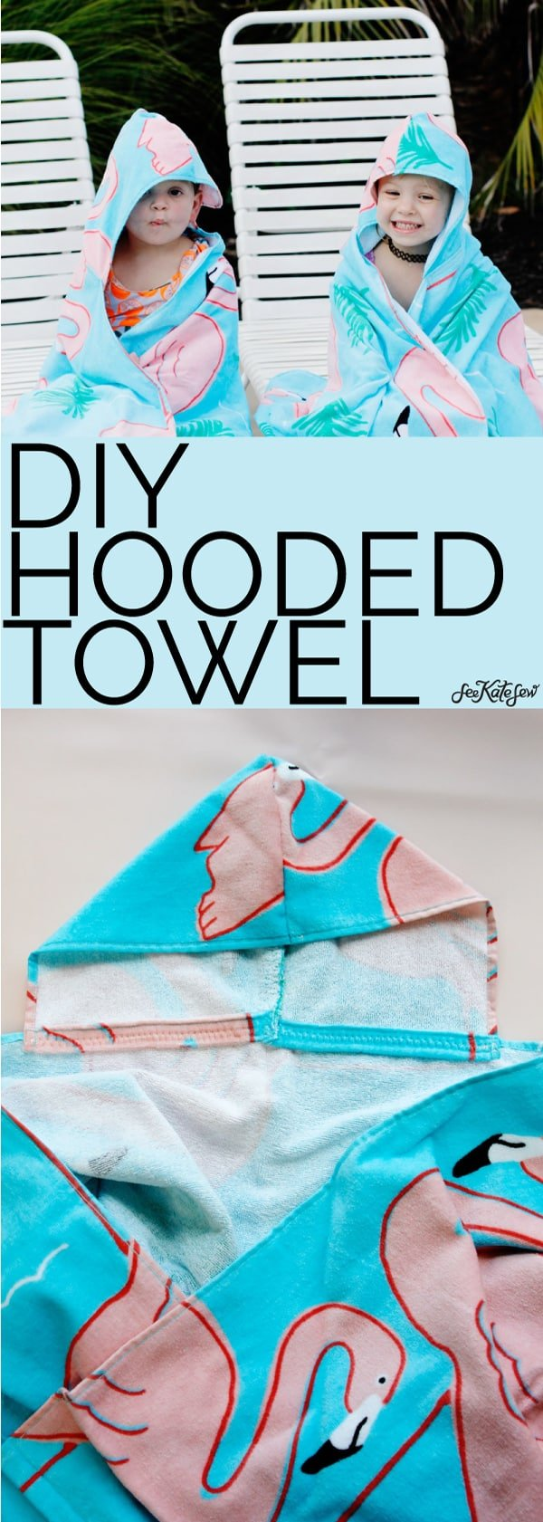FREE PATTERN! DIY Hooded Towel | See Kate Sew