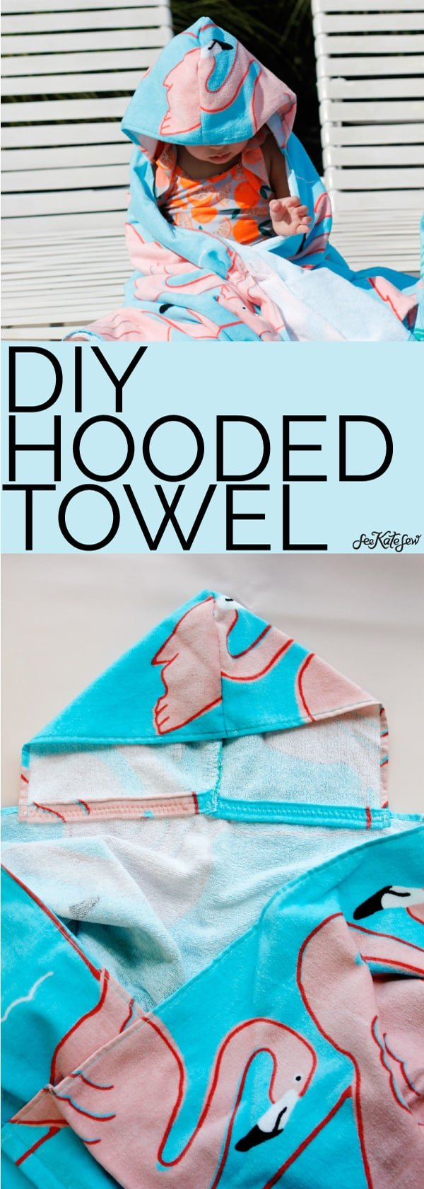 DIY Hooded Towel - FREE PATTERN! | See Kate Sew