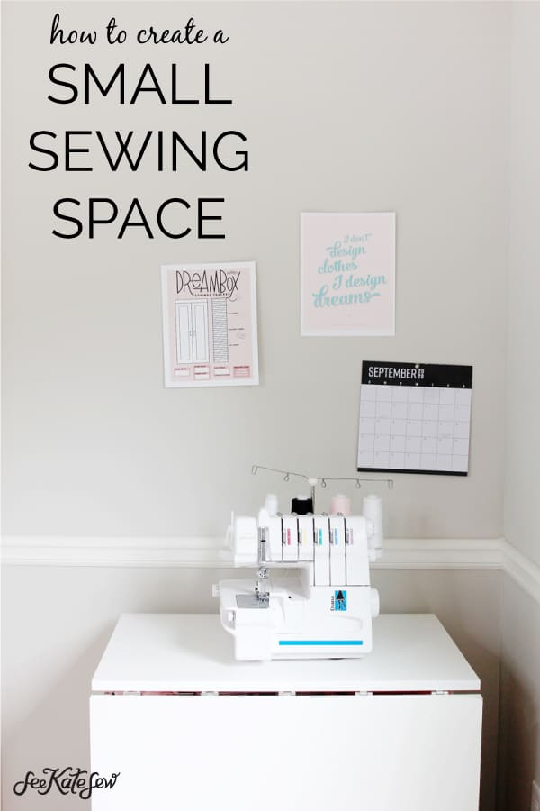 Small sewing space? No problem! The DreamCart is the perfect solution!