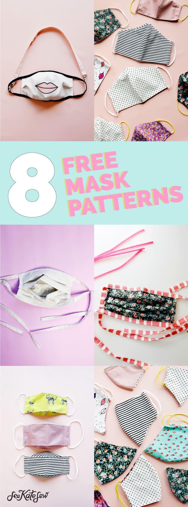 8 Mask Sewing Patterns