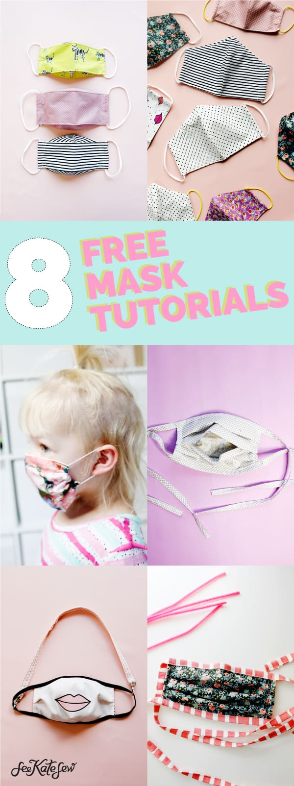 8 free face mask tutorials and patterns