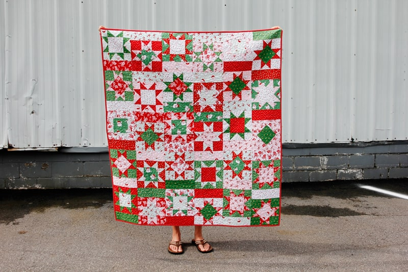 Christmas Fabric Quilt