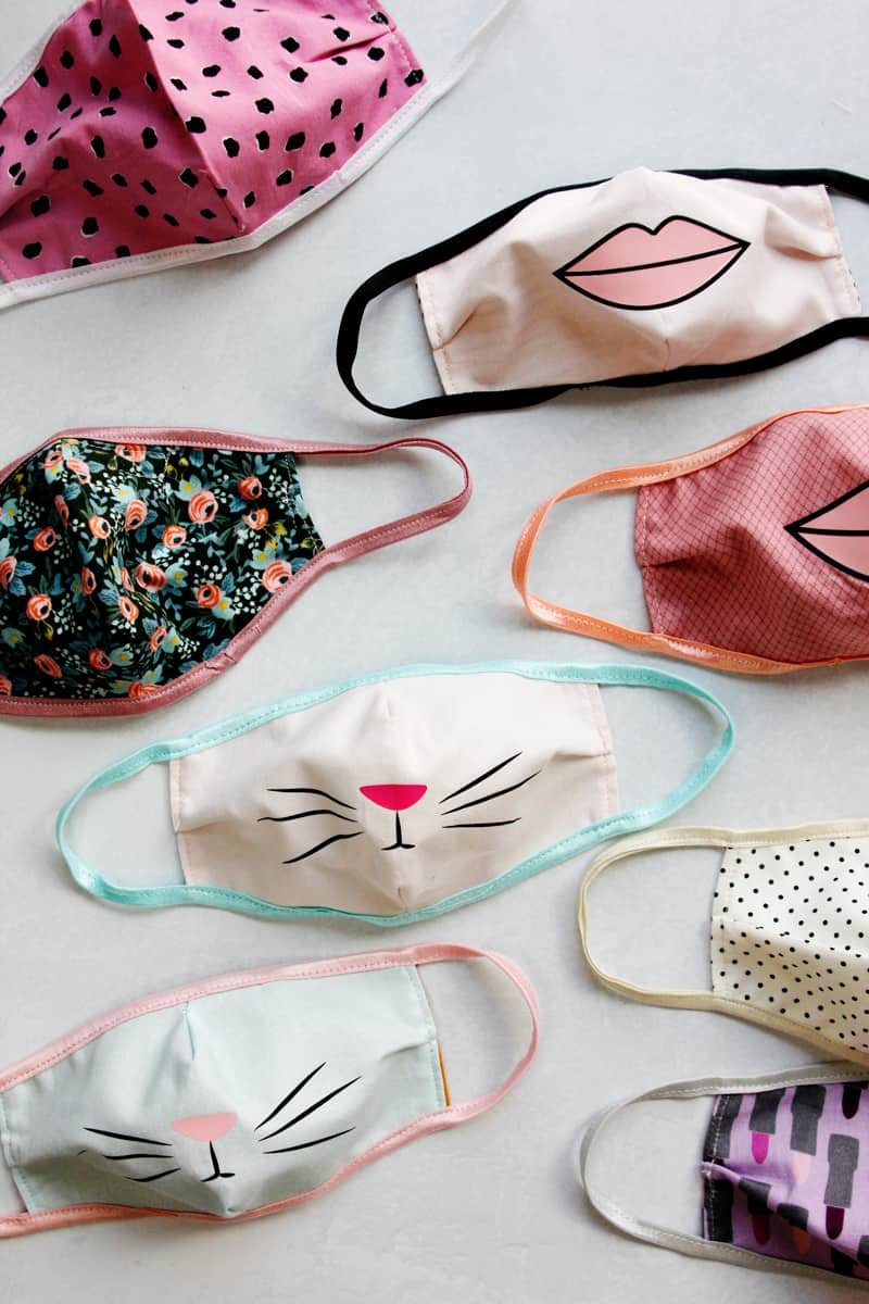 Vinyl Kitty Cat Face Mask